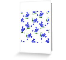 Cornflowers drawn on a white background. Greeting Card