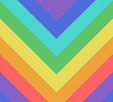 Rainbow Chevrons pattern by jezkemp