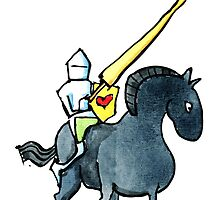 knight of love on his horse by HikingArtistCom