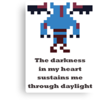 Night Stalker - The darkness in my heart sustains me through daylight Canvas Print