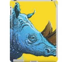 Blue Rhino on Yellow Background iPad Case/Skin