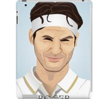 Roger Federer, the tennis superstar iPad Case/Skin