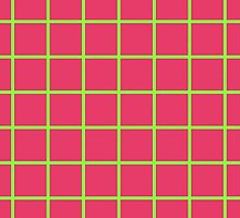 Grid Line Iphone 6 Case | Green on Pink by reenkay