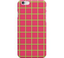 Grid Line Iphone 6 Case | Green on Pink iPhone Case/Skin
