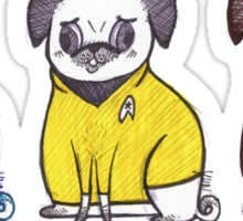 Pug Trek Sticker