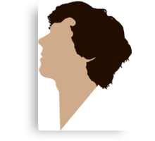 Simple Sherlock Profile Canvas Print