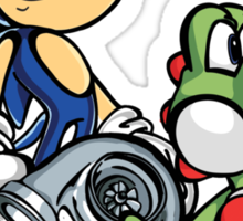Boosted Sonic and Yoshi Sticker