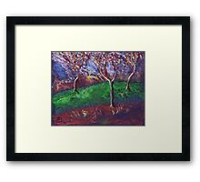Orchard in blossom Framed Print