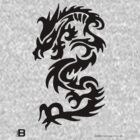 Black Only Chinese Tribal Dragon by VII23