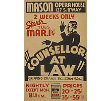 Counsellor at Law Photographic Print