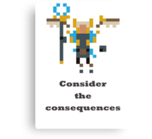 Skywrath mage - Consider the consequences Canvas Print