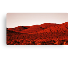 Red mountains Canvas Print