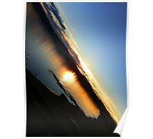 Sunset in Taupo Poster
