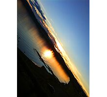 Sunset in Taupo Photographic Print