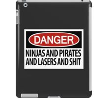 Ninjas and Pirates and Lasers, Oh My! iPad Case/Skin