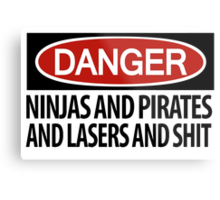 Ninjas and Pirates and Lasers, Oh My! Metal Print