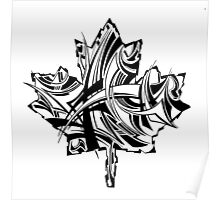 Maple Leaf Black Poster