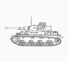 Panzer IV Concept Sketch T-Shirt
