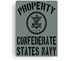 Property Confederate States Navy Canvas Print