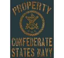 Property Confederate States Navy Light Design Photographic Print