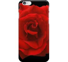 Single Red Rose. iPhone Case/Skin