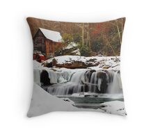 Frozen Grist Mill Throw Pillow