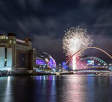 Newcastle New Year Fireworks by Chris Taylor