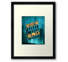 Evolve Today! (Splatter) Framed Print