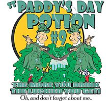 St Paddy's Day Potion #9 - Oh, and don't forget about me... Photographic Print