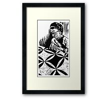 The Quilter, Nellie Clouse Framed Print