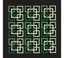 Squares In Green Variations And White Photographic Print