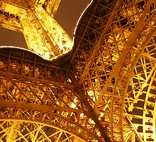 Looking Up Eiffel Tower by Tarryn Godfrey