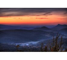 Marysville Autumn Sunset from Keppels Lookout Photographic Print