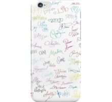 Autographs iPhone Case/Skin