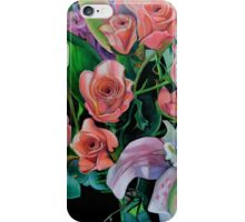 Double Lily with Roses iPhone Case/Skin