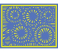 Czerkies Abstract Expression Yellow Blue Photographic Print