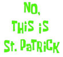 """""""No, This Is St. Patrick"""" Photographic Print"""