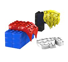 Dali Toy Bricks Photographic Print