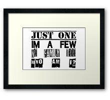 Orphan Black - Just One. I'm A Few. No Family Too. Who Am I? Framed Print
