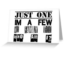 Orphan Black - Just One. I'm A Few. No Family Too. Who Am I? Greeting Card