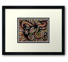 Palenzuela Abstract Expression Yellow Red Black Framed Print