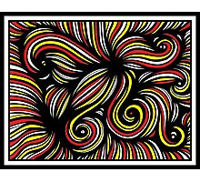 Palenzuela Abstract Expression Yellow Red Black Photographic Print