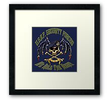 Security Forces Carpe Noctum Framed Print