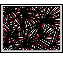 Kolb Abstract Expression Red White Black Photographic Print