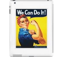 Rosie the Riveter classic wartime image iPad Case/Skin