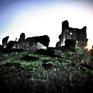 Corfe Castle Sundown by Polly x