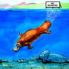diving platypus by John Segond