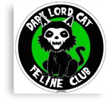DARK LORD CAT FELINE CLUB Canvas Print