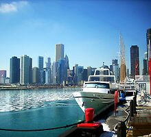 Harbor At Navy Pier by Jeffery Bennett