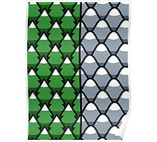 Forest and Mountains patterns Poster
